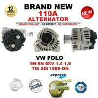 FOR VW POLO 9N 6N 6KV 1.4 1.9 TDi SDi 1999-ON NEW 110A ALTERNATOR EO QUALITY