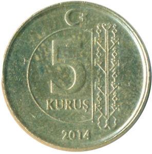 COIN / TURKEY / 5 KURUS 2014     #WT9772