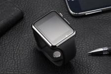 Silver W/ Black band Bluetooth Smart Watch GSM SIM Camera for Android Phone J15