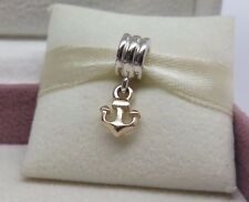 New w/ Box Pandora Hope Anchor Dangle w/14K Gold Charm  #790225 BEWARE FAKES