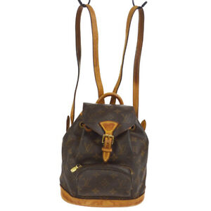 LOUIS VUITTON MINI MONTSOURIS BACKPACK HAND BAG MONOGRAM M51137 ek 40533