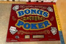 "IGT ""Bonus Poker"" Slot Machine Glass 84525100 FAST FREE SHIPPING!! Z-2"