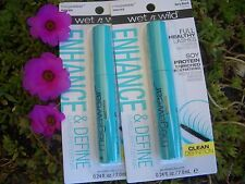 2 WET & WILD MEGAWEAR MASCARA FOR FULL, HEALTHY LASHES, #C136 VERY BLACK