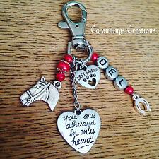Pet Loss Memorial Rainbow Bridge Best Friend Horse Personalised Key Bag Charm