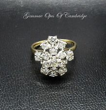 18K Gold 18ct gold Diamond Cluster Cocktail Ring Size O US Size 7 4.7g 1.56ct