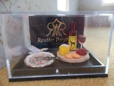 Reutter porcelain Dolls House 1:12th Scale Cheese Board and Wine 16088
