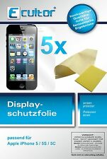 5x Apple iPhone 5C screen protector protection guard crystal clear