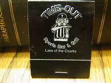 Used Vintage Time-Out Sports Bar & Grill Lake Of The Ozarks Missouri Matchbook