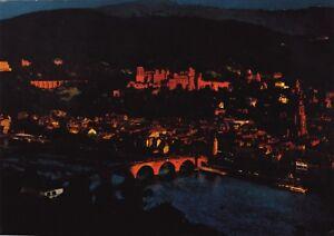 Heidelberg , Im Abendlicht ,Ansichtskarte