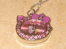 New Women's Girls Hello Kitty Necklace Pendant Watch - Crystal Accents  - U Pick