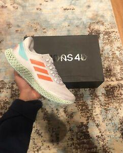 Men's Adidas 4D Run 1.0 Dash Grey Signal Coral FW1230 New Running Sneaker 8.5-10
