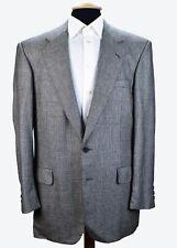 Chester Barrie Savile Row 100% Cashmere Gray Glen Plaid 2 Vent Sport Coat 42 L