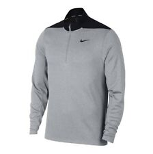 Nike Golf Size  DRI FIT Quarter 1/4 Zip Pullover Grey Black AH5548 012 Large