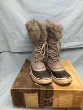 Sorel Joan of Arctic Waterproof Suede Boots, Women's Size 9, Grey <SB4> 1186