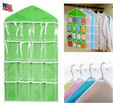 16 Pockets Over The Door Shoe Organizer Rack Hanging Bag Storage Holder Hanger