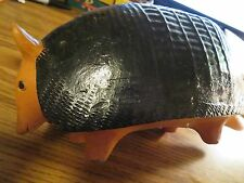 Large Mid Century Modern Mexican Pottery Armadillo Piggy Bank
