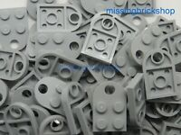 Lego x10 Plate Modified 3 x 2 with Hole Light Bluish Grey Plate 3176 *NEW*