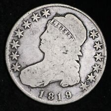 1819/18 Capped Bust Half Dollar CHOICE FINE FREE SHIPPING E406 WFM