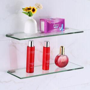 Bathroom Shower Shelf Glass Storage Racks Soap Holders Fashion Wall mounted New