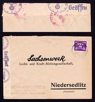 THIRD REICH CENSOR - COVER AMSTERDAM TO SACHSENWERK NIEDERSEDLITZ (DRESDEN) 1942