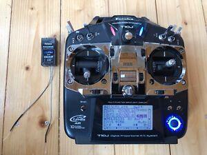 Futaba T10J radio control transmitter with R3008SB Receiver.