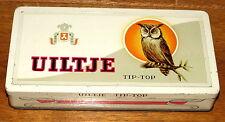 Uiltje Owl Bird TipTop Cigar Tobacco Tin 1960s