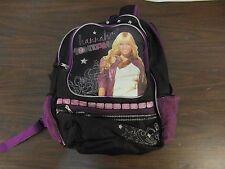 Children Youth Girl's Hannah Montana Black Pink School Backpack Bag 32972