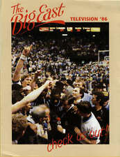 NCAA College Basketball Big East Media Guide Telivision Schedule 1986