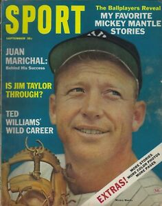 September 1964 Sport Magazine - Mickey Mantle Yankees Juan Marichal Giants HOF
