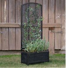 Metal Decorative Planter Trellis Garden Outdoor Decor Pots Wood Box Rustic Vines