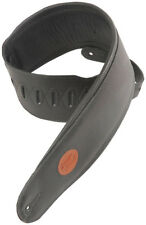 "Levy's MSS2-4-BLK 4.5"" Garment Leather Signature Series Guitar Strap - Black"