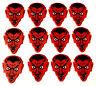 12 Pack Monster Shaped Guitar Picks - Red Lil Devil - Hot Picks - 12 pk pics