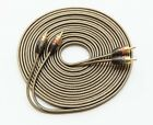 5M RCA CABLE SHIELDED PURE OFC 5 METRES 16.5 FEET PHONO LEADS