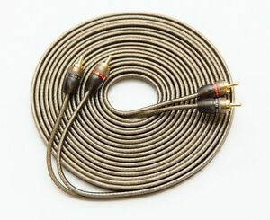 5M RCA CABLE SHIELDED WIRE PURE OFC 5 METRES 16.5 FEET PHONO LEADS