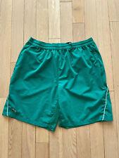 Lacoste Sport Mens Novak Djokovic Tennis Shorts Green Large