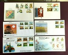 ZIMBABWE 1983/1995 - FIRST DAY COVERS X 6 (FULL STAMP SETS) - EXCELLENT  (LOT 1)
