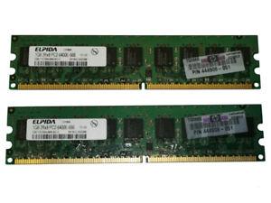 2GB (2x 1GB) Elpida EBE11ED8AJWA-8G-E PC2-6400E 2Rx8 800MHz ECC RAM