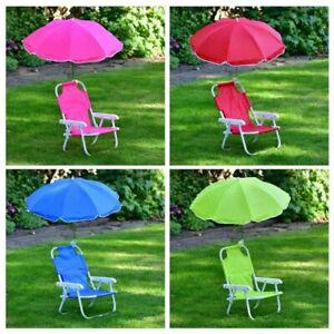 Kids Children Garden Folding Chair with Parasol