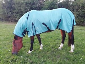 ** SALE**  New Turquoise Fly Rug for Horse / Pony Full Neck Combo Mesh Rugs