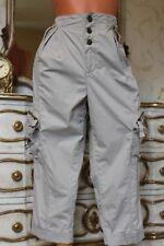 KAREN MILLEN 100% Cotton Light Grey Ladies 3/4 Trousers Size 12