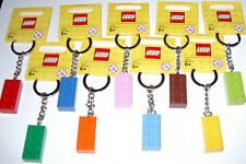 NEW LEGO BRICK BLOCK 2 X 4 KEYCHAIN KEYRING W/TAG PARTY FAVOR U PICK COLOR & #