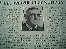 ephemera 1955 obituary mr victor pitt kethley wide world