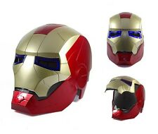 CASCO IRON MAN CON LUZ LED, COLECCIONISTA, ESCALA 1/1