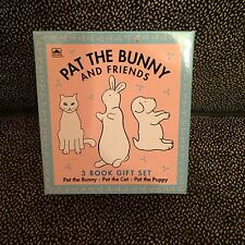 Pat The Bunny And Friends - 3 Book Gift Set (Pat the Bunny, Cat, Puppy) - NIB