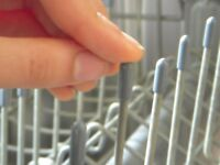 50 Universal Gray Dishwasher Rack Tine Tip Cover Caps   Just Push On to Repair