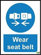 Wear seat belt sign. This is CrossRail compliant - 100mm x 75mm