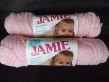 Vtg Jamie Lion Brand Baby Yarn PINK 201 Lot 2 Skeins