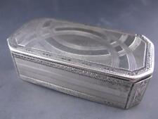 Rare Austrian Silver Snuff Box c1804 w/ wonderful half circle patterns