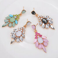 Fashion Elegant Women Crystal Rhinestone Ear Stud Earrings Fashion Jewelry