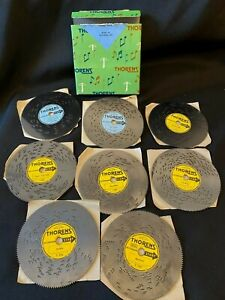 THORENS MUSIC BOX DISCS w/ Original Box, 8 Discs, Various Titles